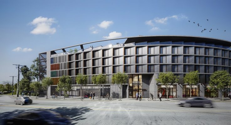 PortLiving breaks ground on Gateway in east Vancouver; façade inspired by salmon swimming upstream
