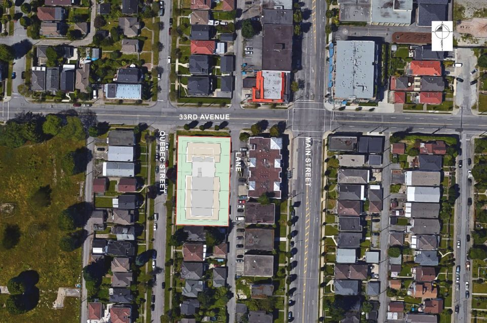 4906-4970 Quebec Street development site