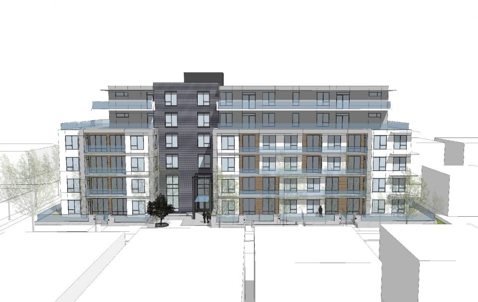 4906-4970 Quebec Street rendering head on