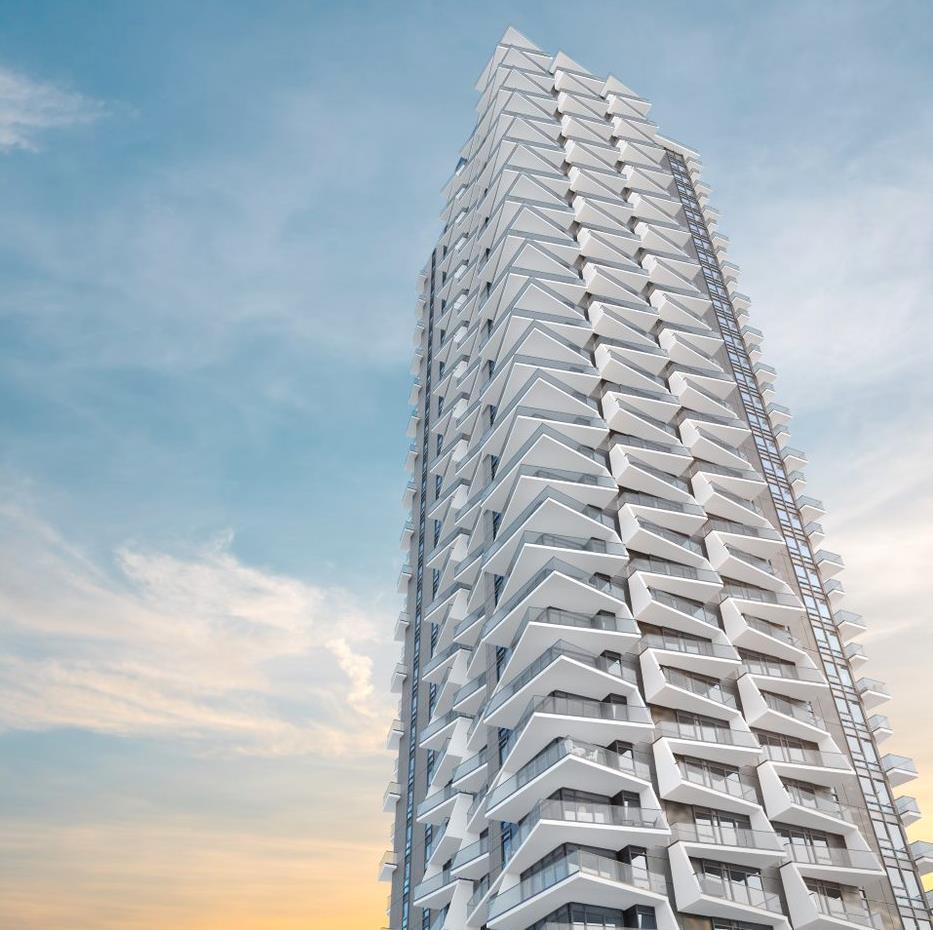 Akimbo Burnaby condo tower profile