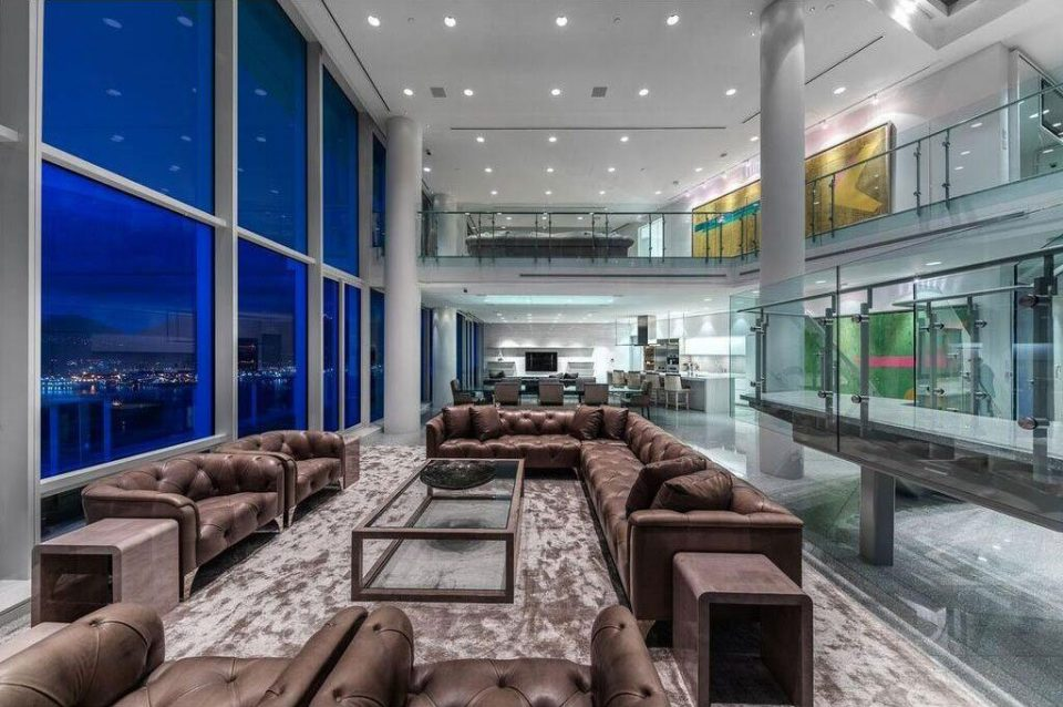 Penthouse at the Fairmont Pacific Rim, re-listed for just under  million.
