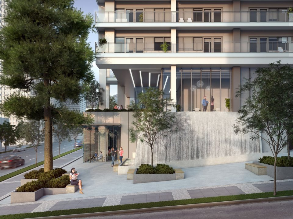 1450 West Georgia Street tower plaza