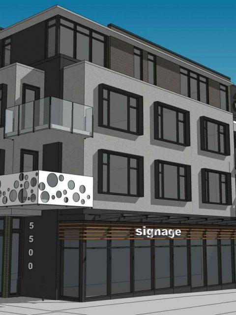 5520 Dunbar Street building rendering