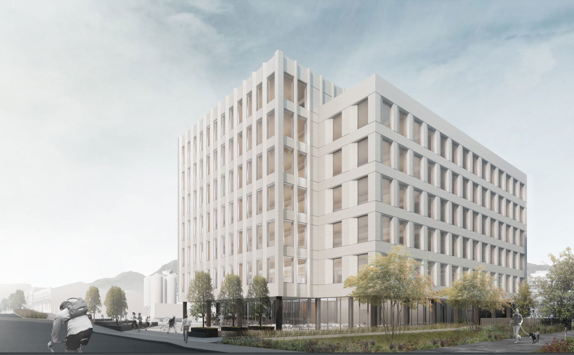 Terracotta-clad office building planned next to Red Truck Brewery