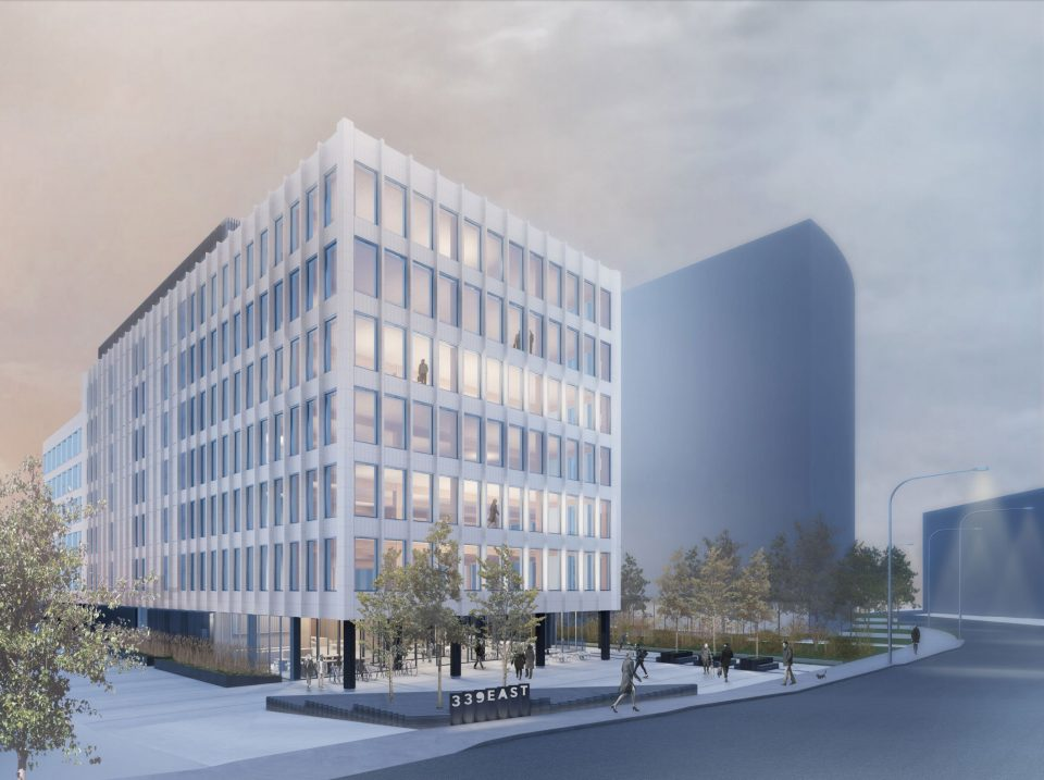 Brewery Creek office building rendering