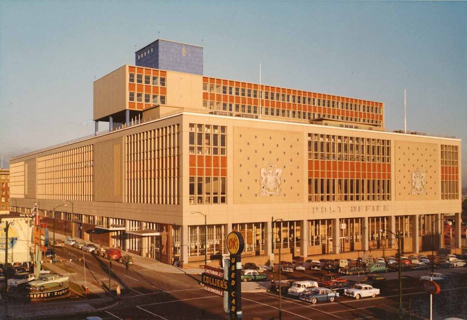 Downtown Vancouver post office 1960