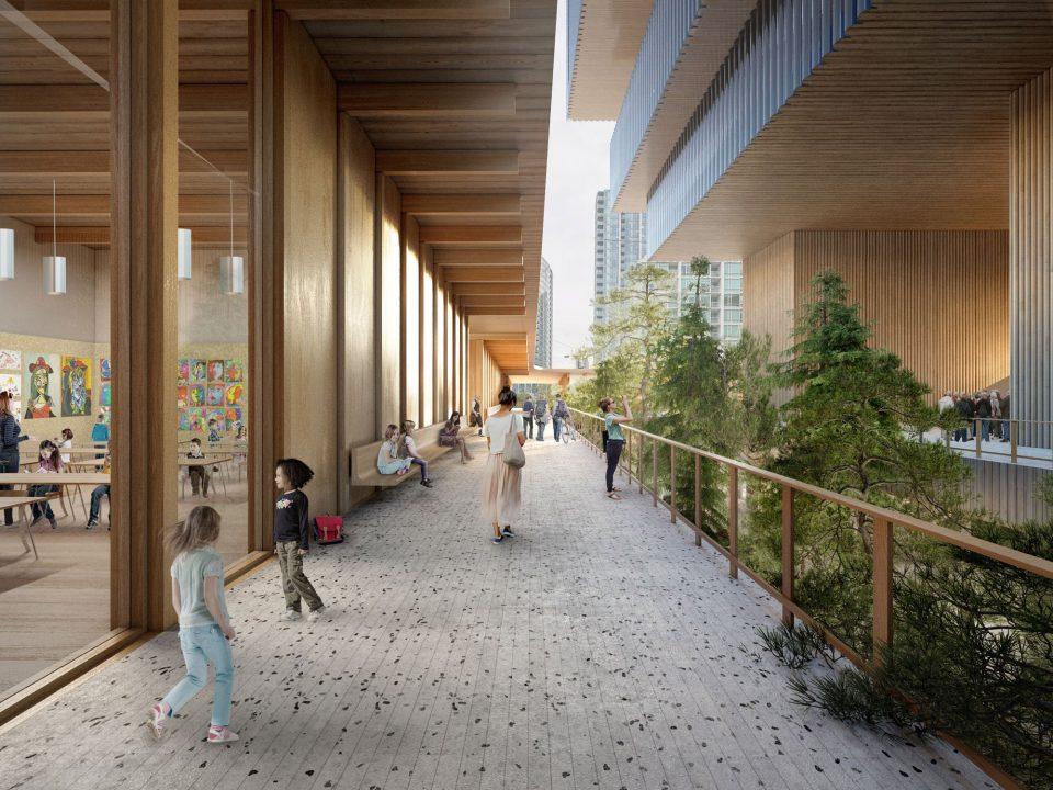 New Vancouver Art Gallery walkway