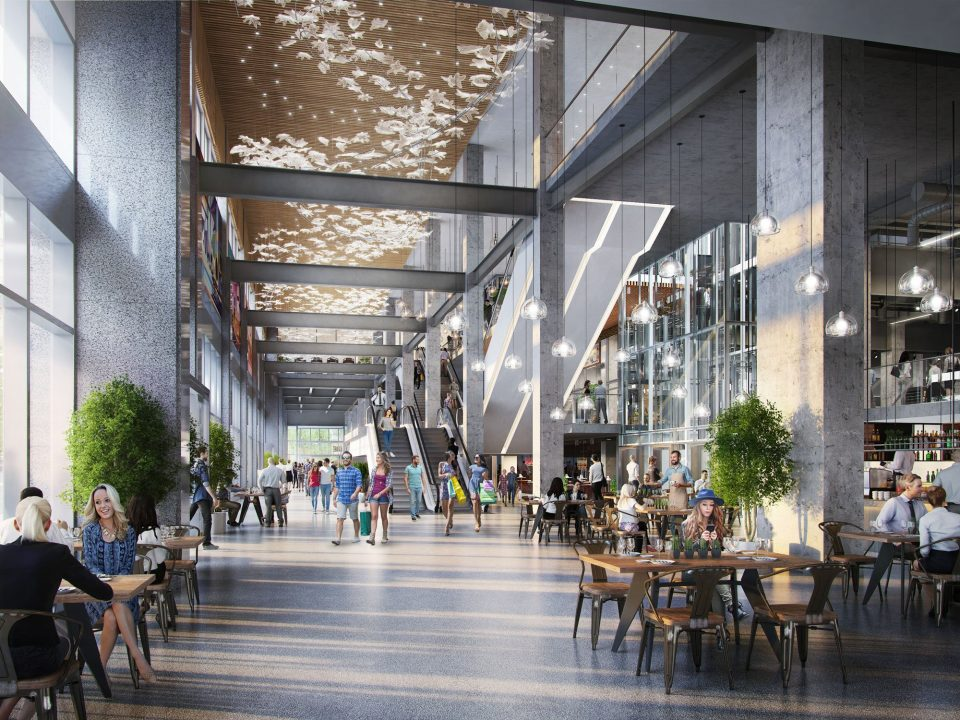 The Post Loblaw CityMarket interior retail rendering