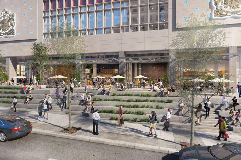The Post Loblaws CityMarket steps