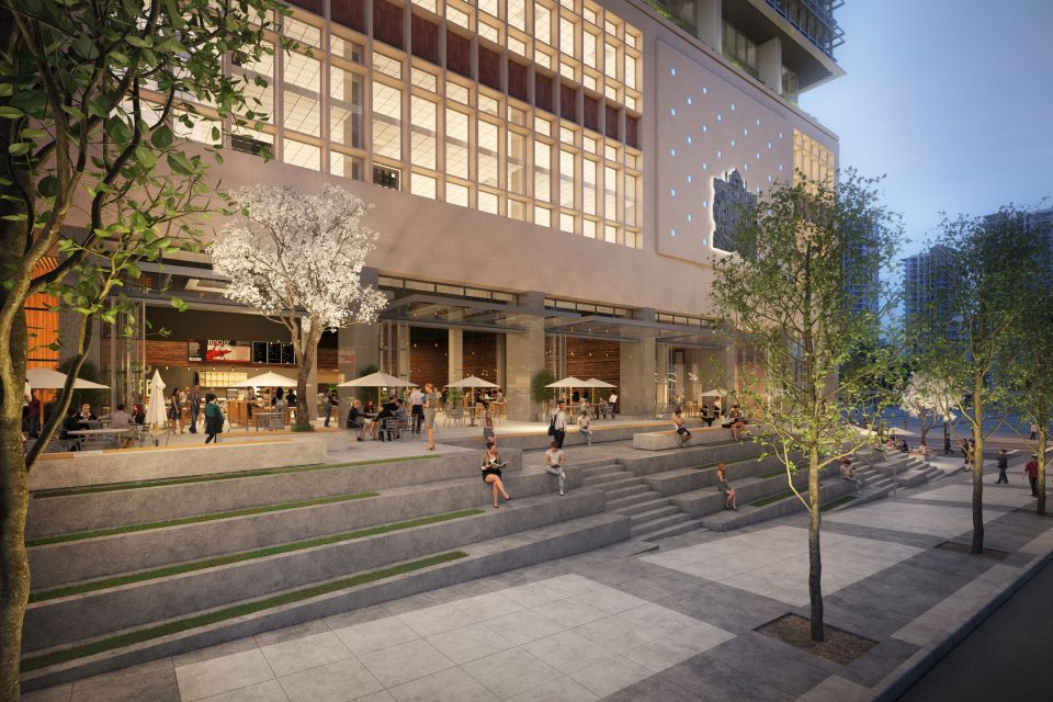 The Post QuadReal retail rendering
