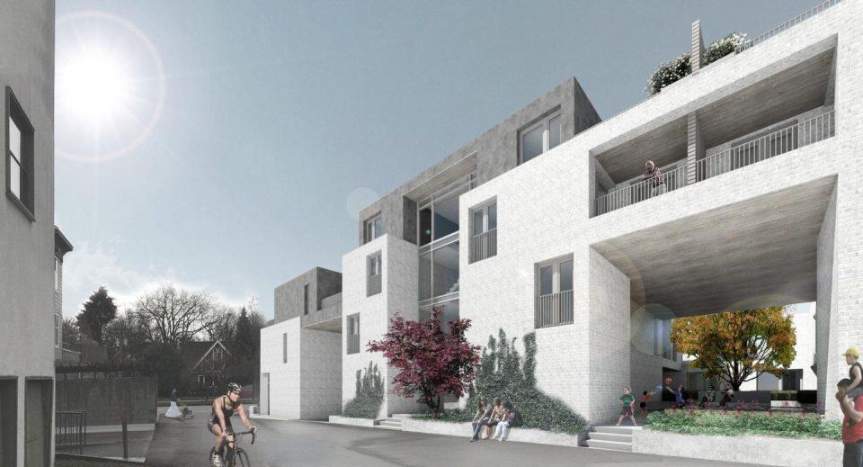 West King Edward rental housing lane courtyard