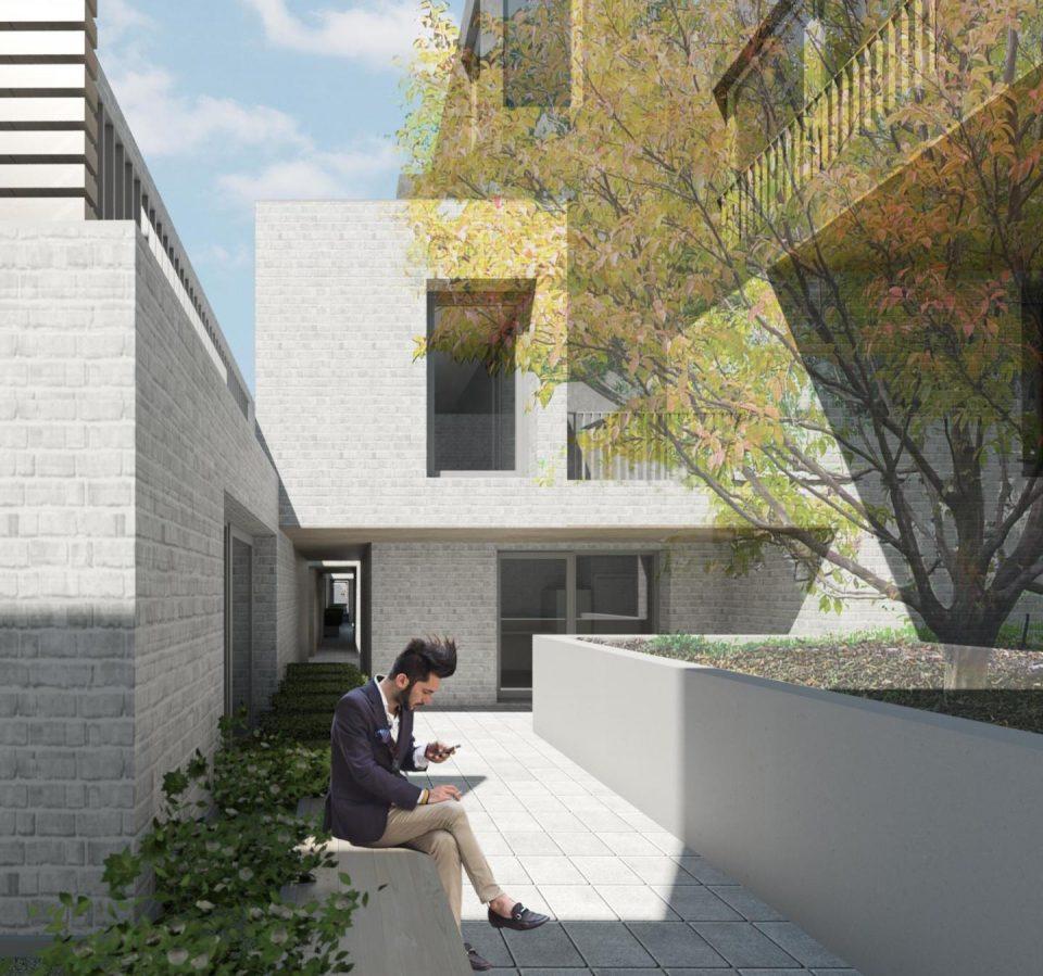 West King Edward rental housing south courtyard