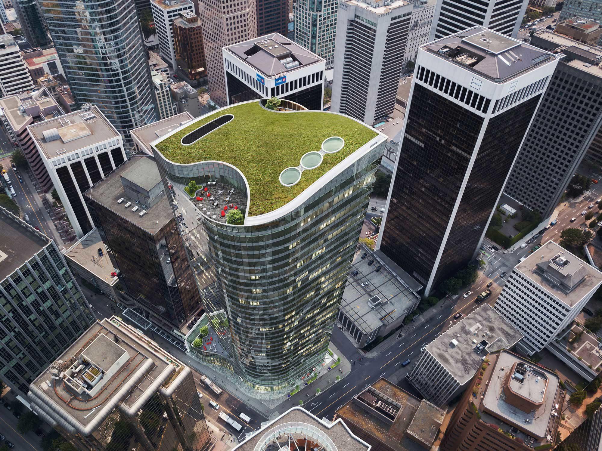 New renderings released of 1090 West Pender Street office tower