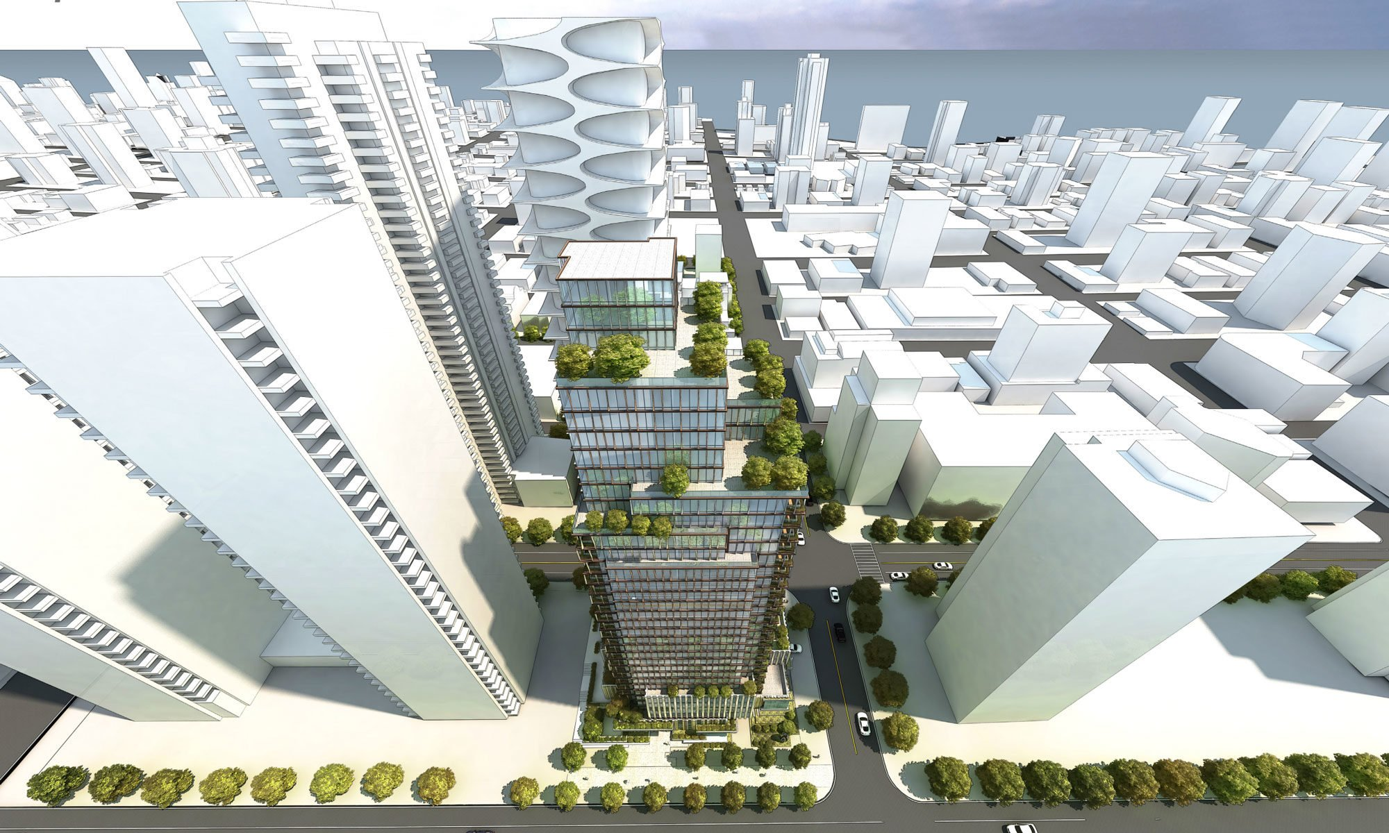 Anthem Properties files rezoning application for West Georgia tower