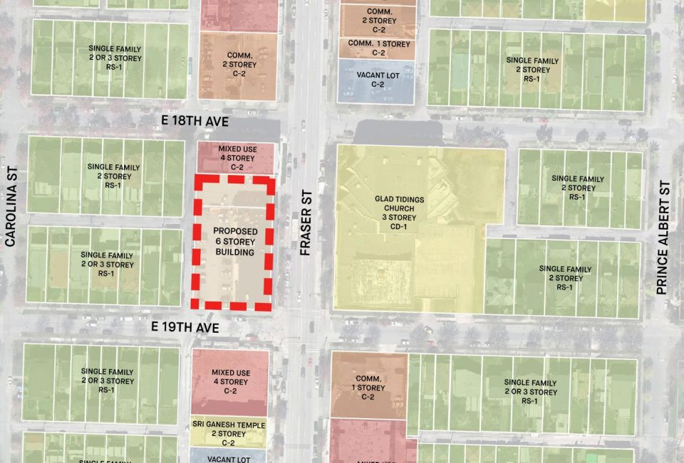 3429-3469 Fraser Street project location