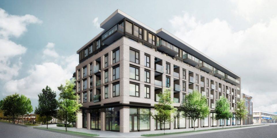 3429-3469 Fraser Street rendering View from Southeast