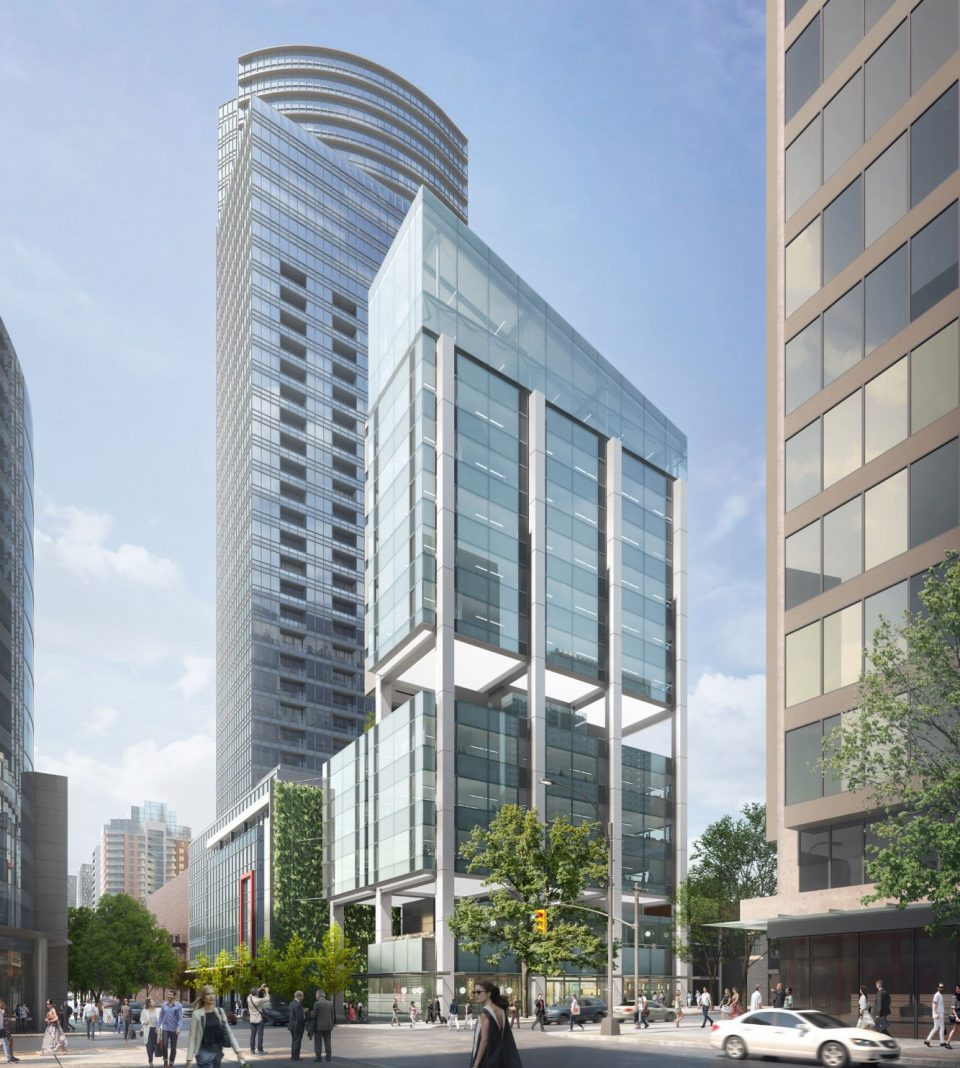 600 Robson Street project rendering full
