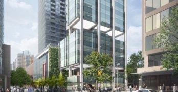 600 Robson Street rendering streetscape