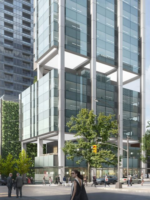 600 Robson Street rendering streetscape