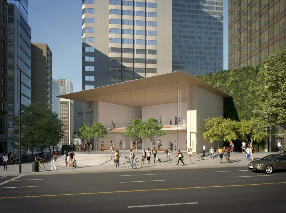 Downtown Vancouver Apple flagship rendering