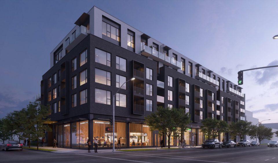 Fraser Street rentals rendering dusk