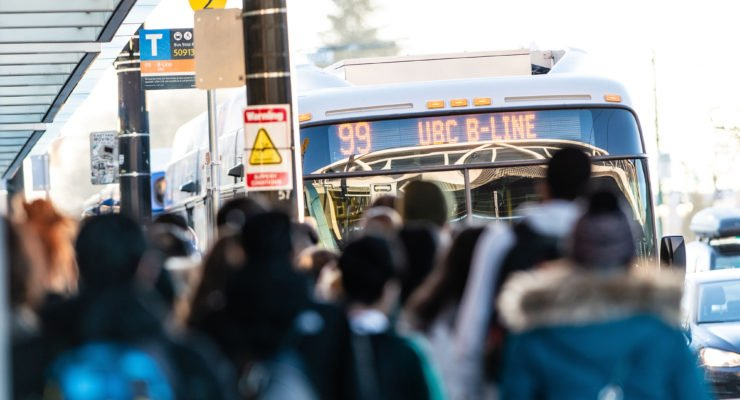 Full 99 B Line bus to UBC