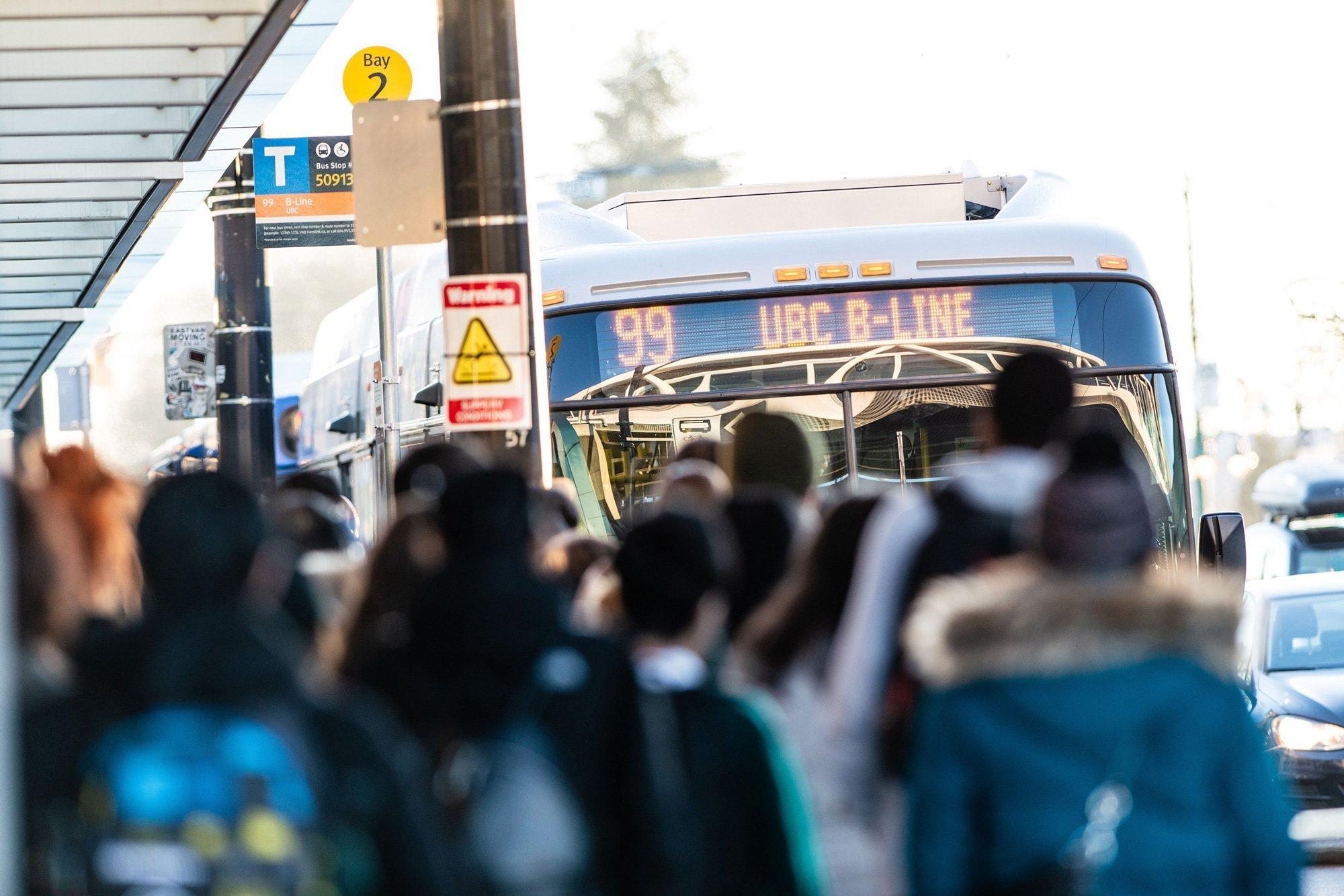 Full 99 B Line bus to UBC