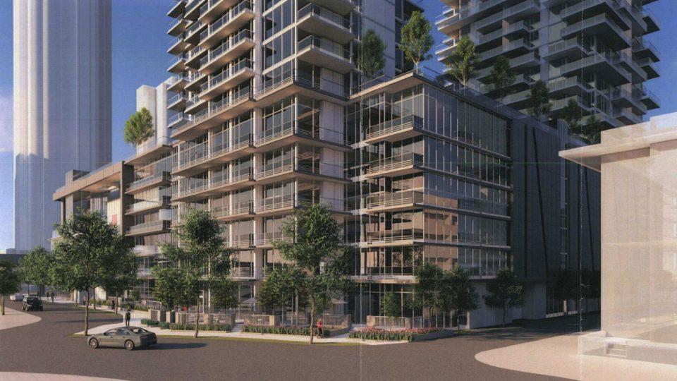 Onni Coquitlam podium residential