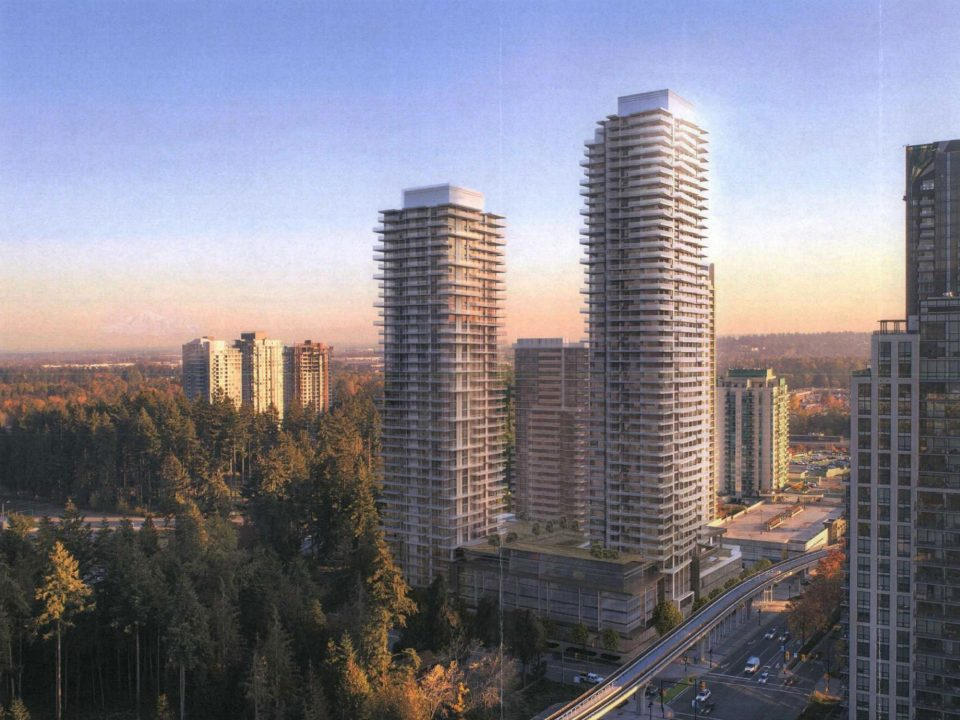 Onni Coquitlam towers view
