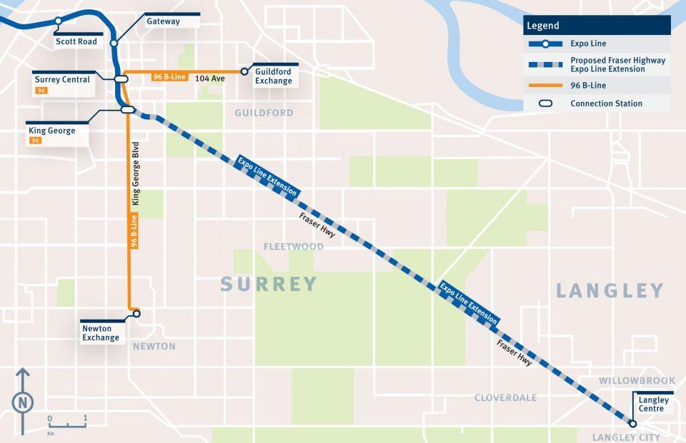 SkyTrain Surrey Langley route TransLink
