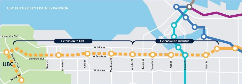 UBC Extension map