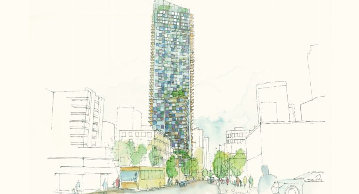 1157 Burrard Street tower drawing