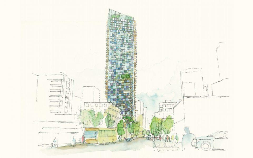1157 Burrard Street tower drawing