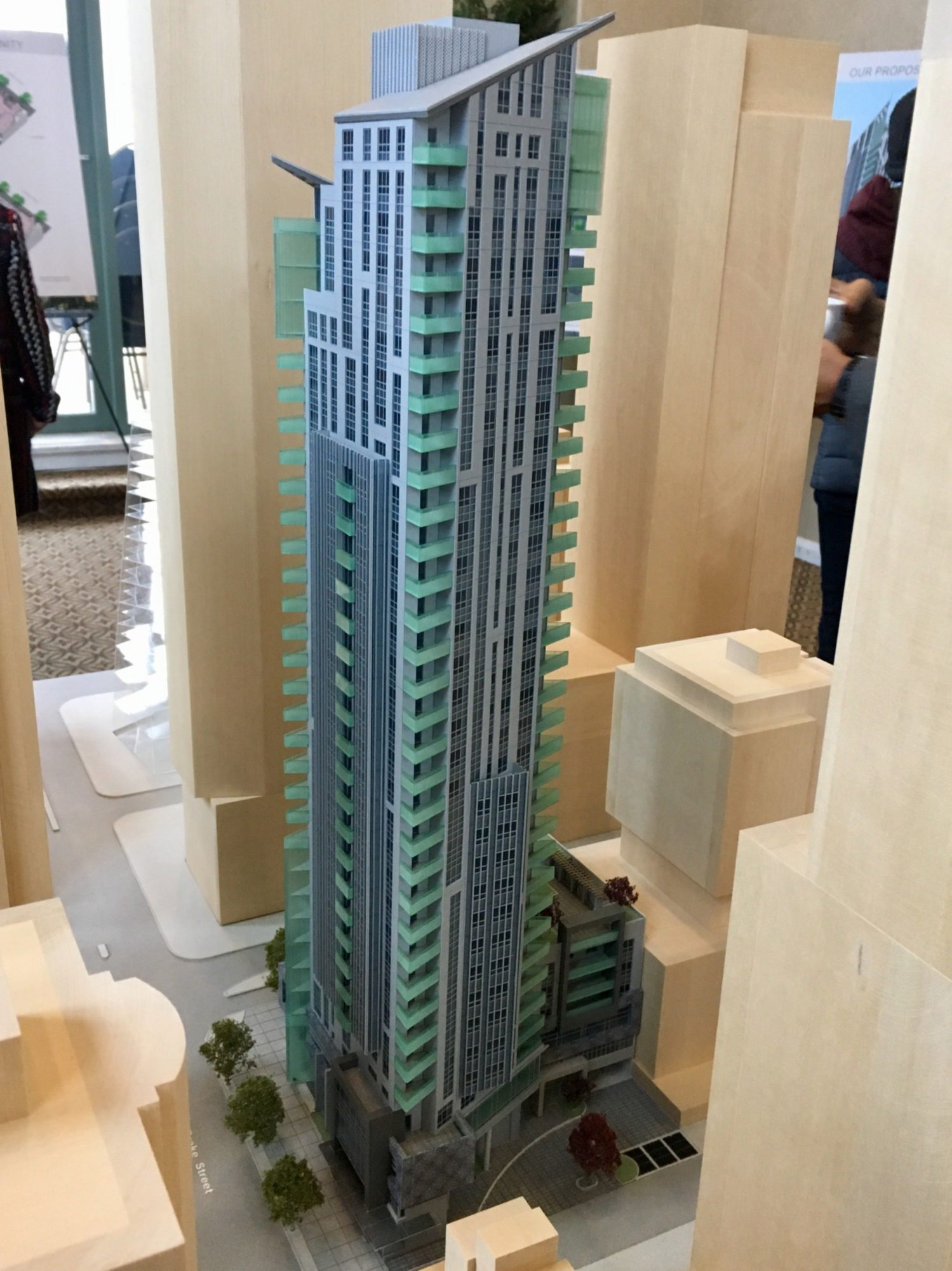 "Slender 35-storey tower with ""distinctive crown"" slated for Hornby and Drake"