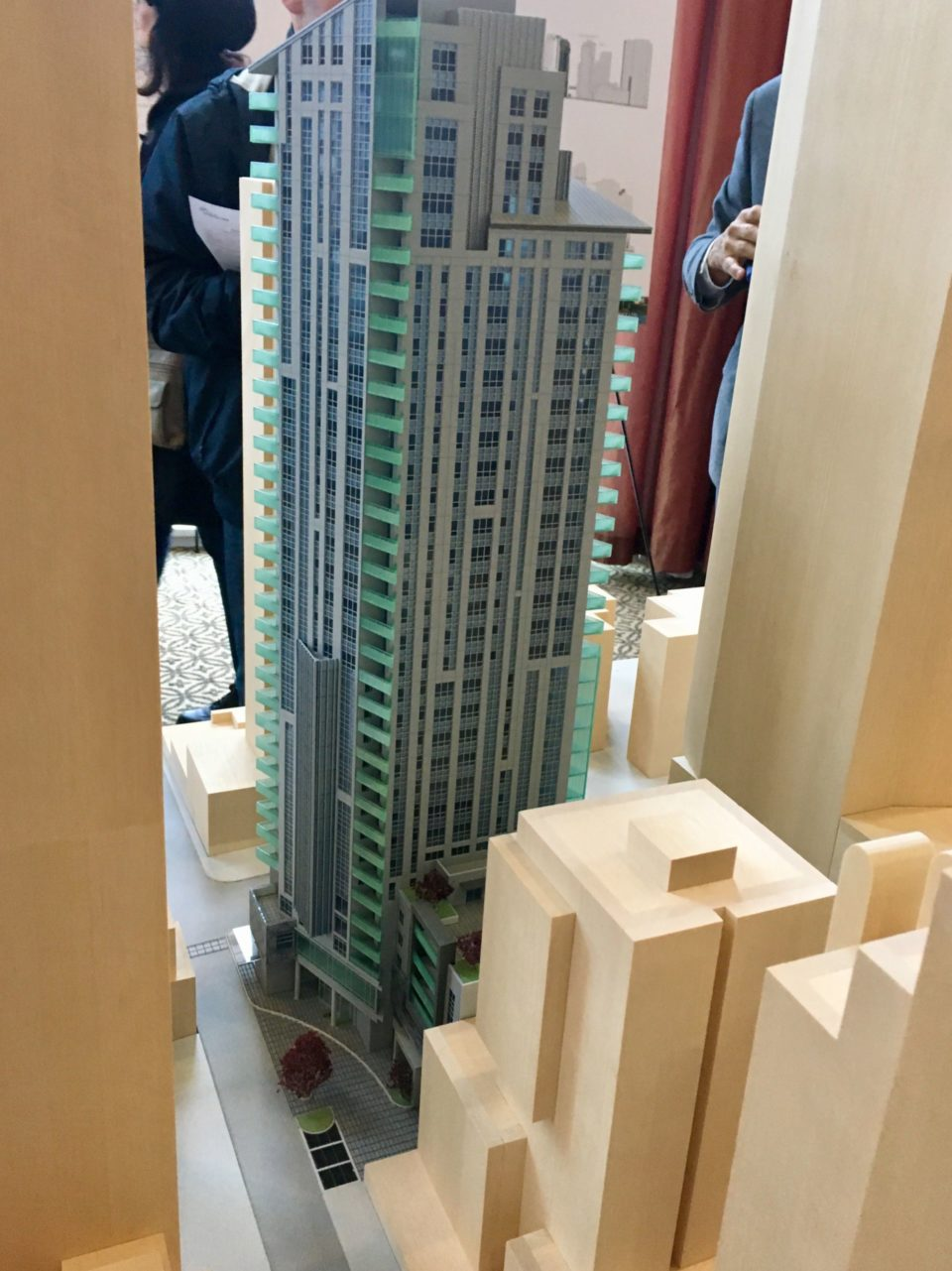 1290 Hornby Street tower model open house