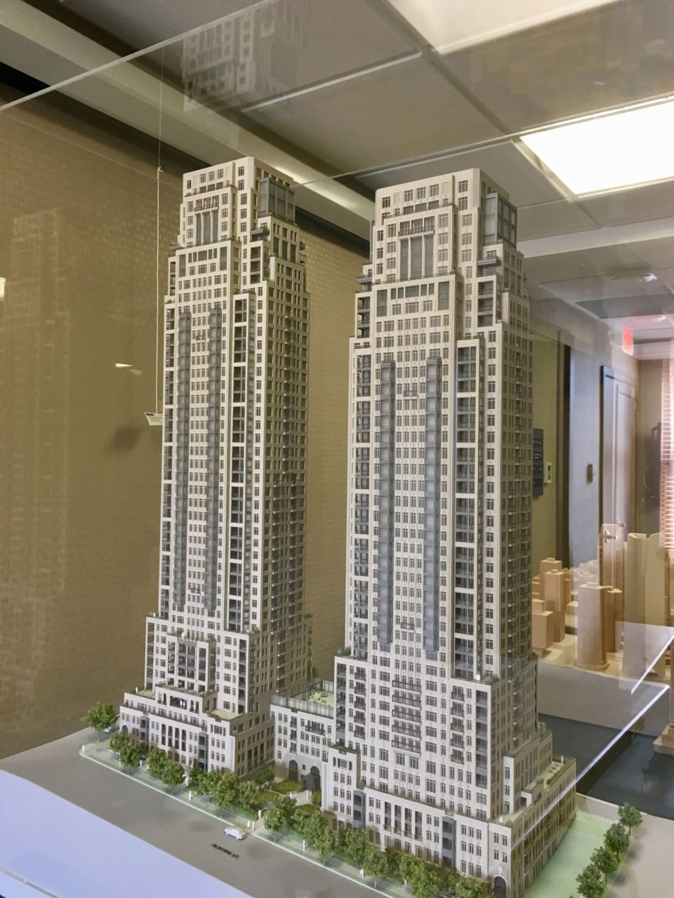 New models of NYC-inspired towers at 1444 Alberni Street