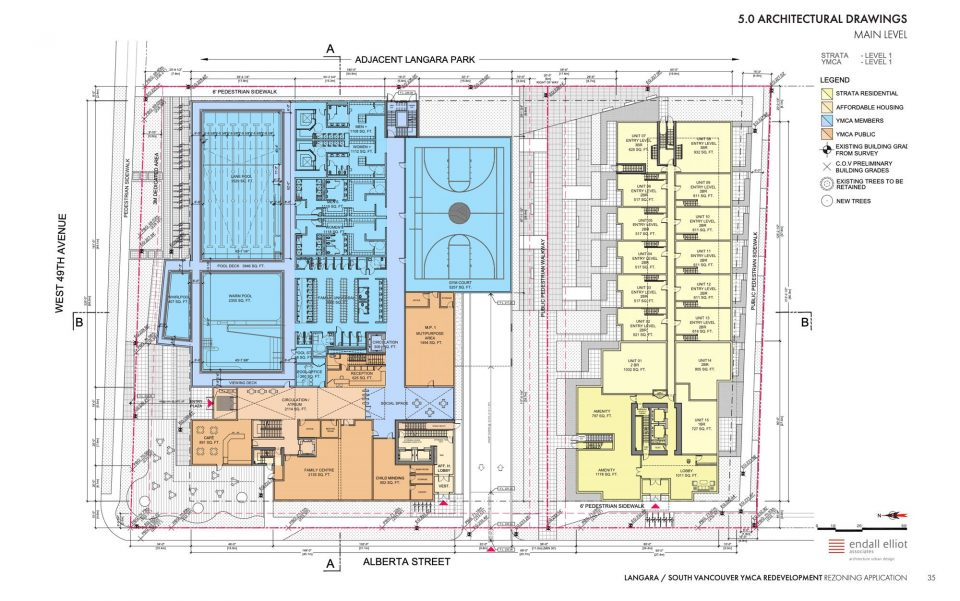 New Langara YMCA floor plan