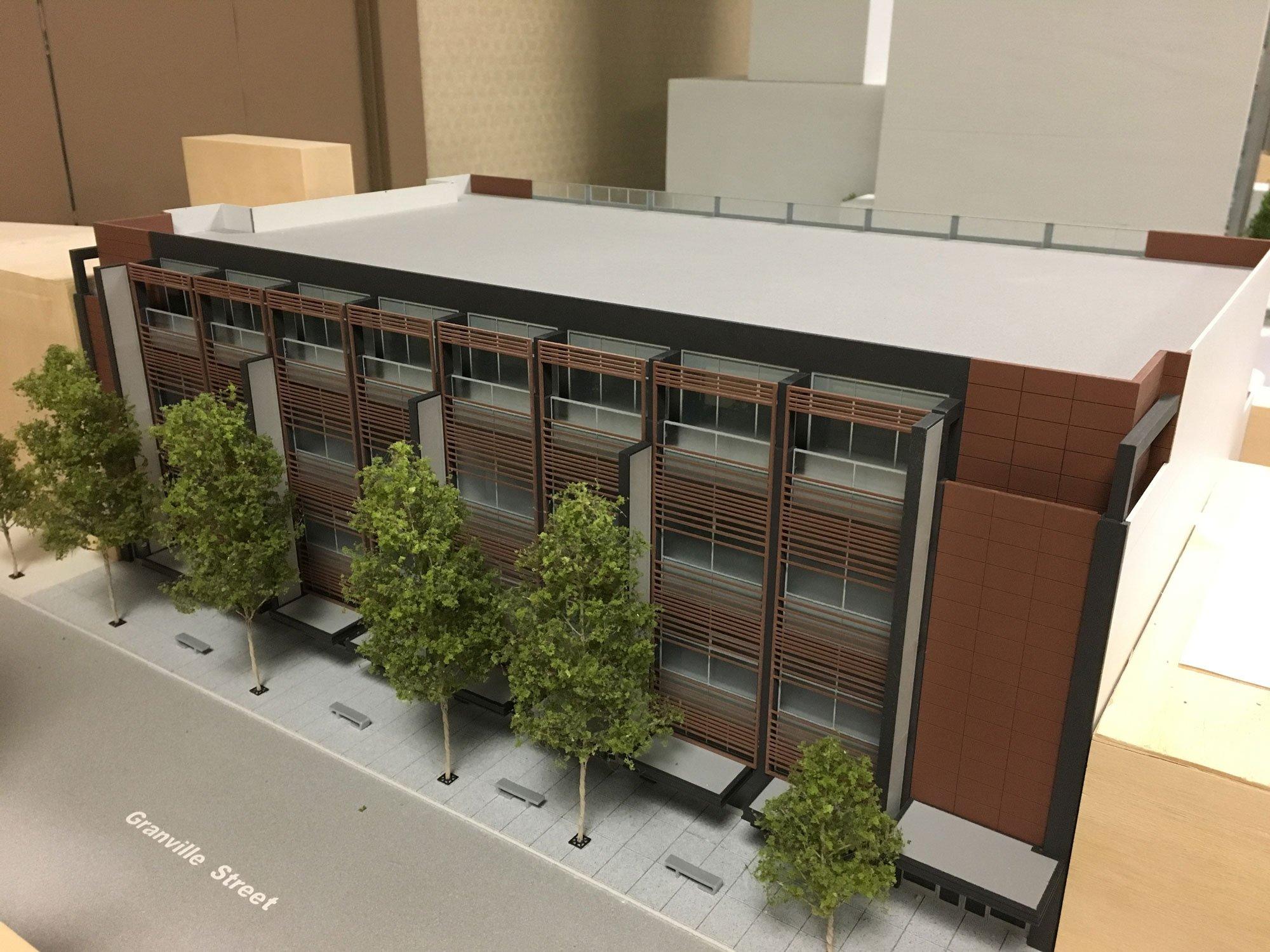 Model of retail building Granville Street
