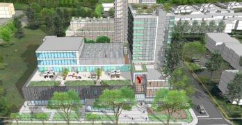 New Langara YMCA aerial view