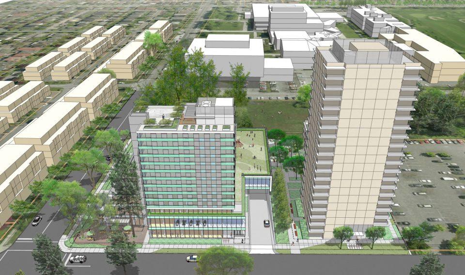 New Langara YMCA West Aerial View