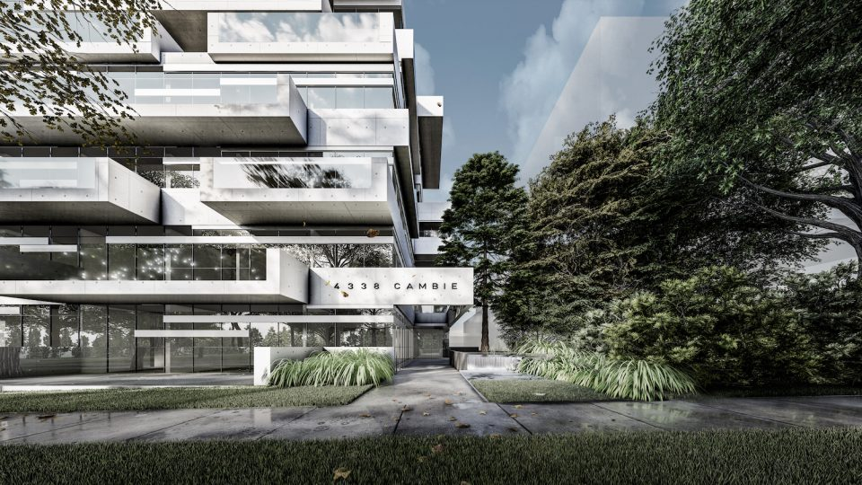 Slate Block rendering designed by Vancouver architects