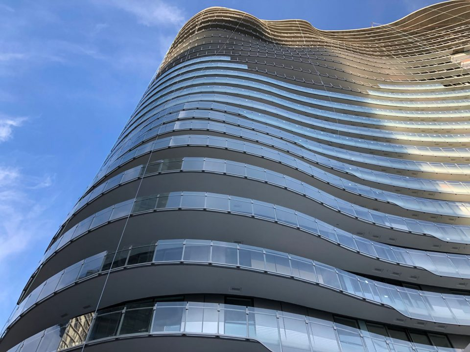 The Arc Concord Pacific glass balconies