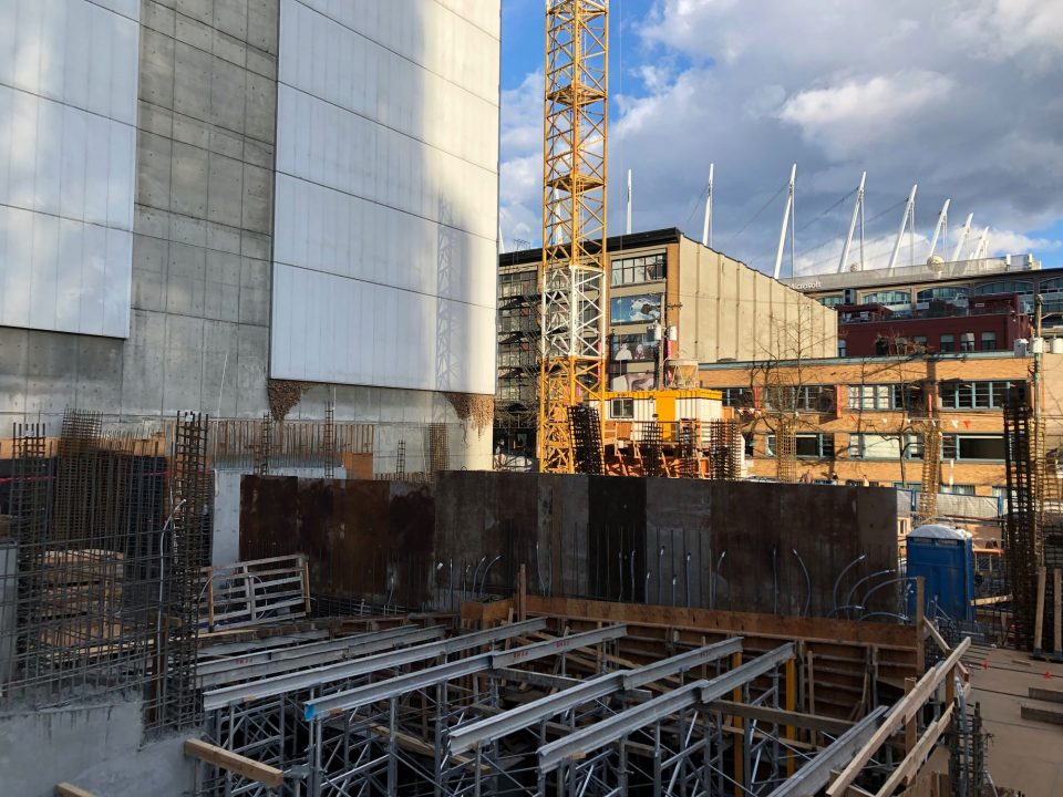 The Smithe Boffo construction site March 2019