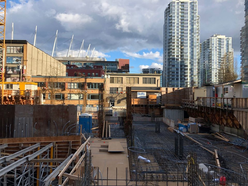 The Smithe Boffo construction site March 2019 south
