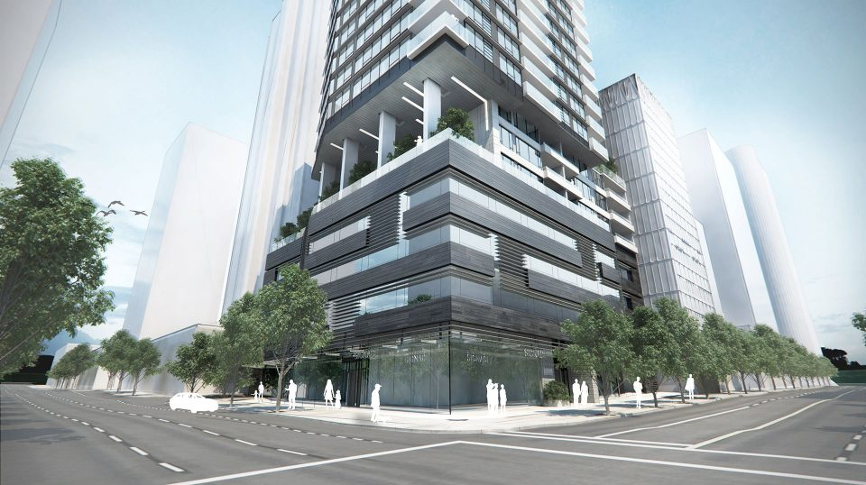 The Smithe tower rendering