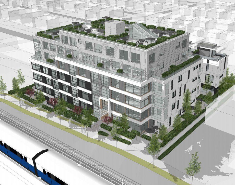 3235-3261 Clive Avenue SkyTrain rendering