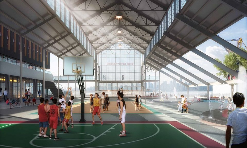 Capilano University The Shipyards sport court