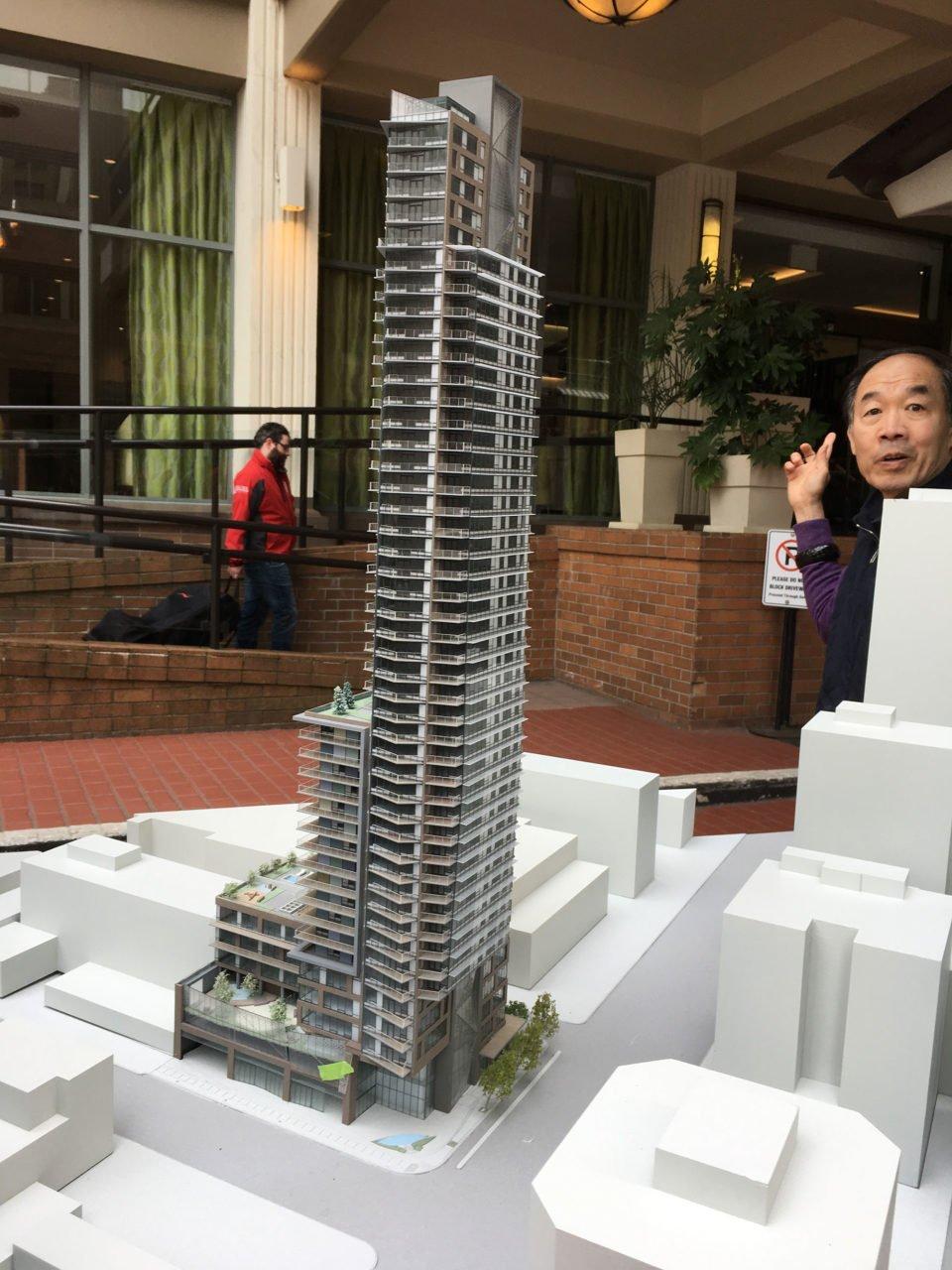 Davie and Burrard tower model