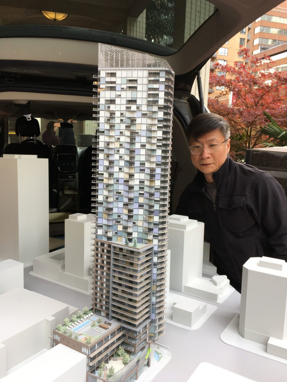 Davie and Burrard tower model