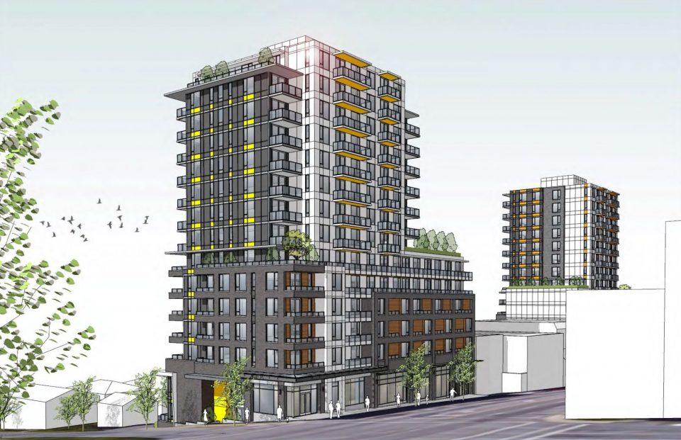 East Hastings and Boundary rental building rendering